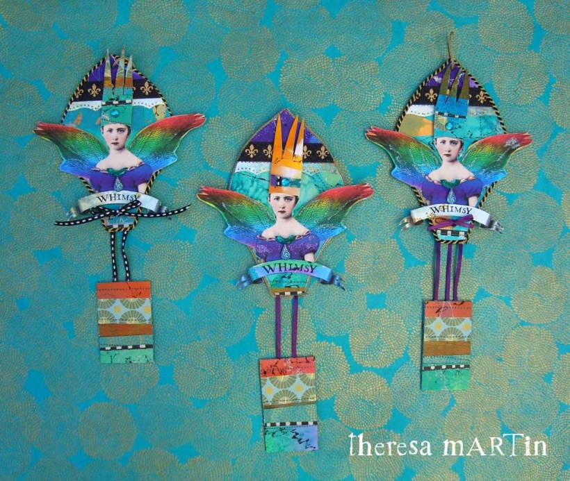 Flights o Fantasy Whimsy Jewel Tone Regal Balloons by theresa mARTin