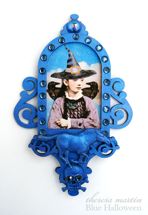 Blue Halloween for paperwhimsy