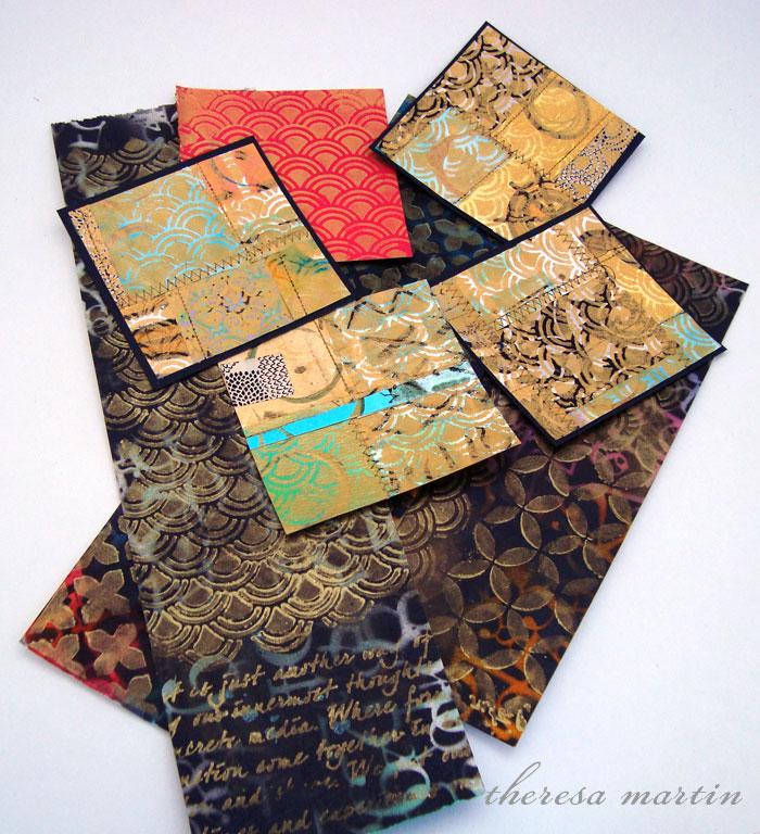 theresa mARTin Metallic painting