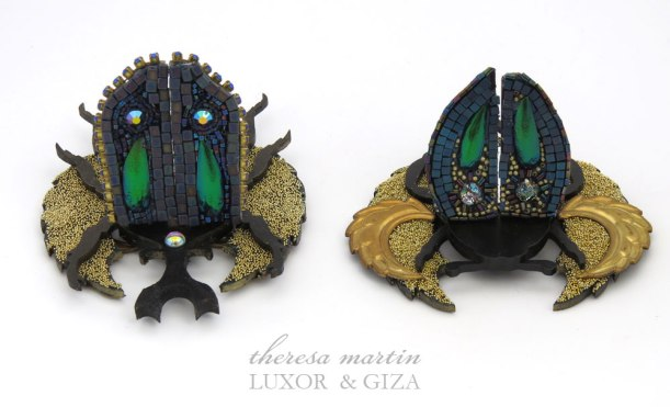 Two Scarabs with Open Wings