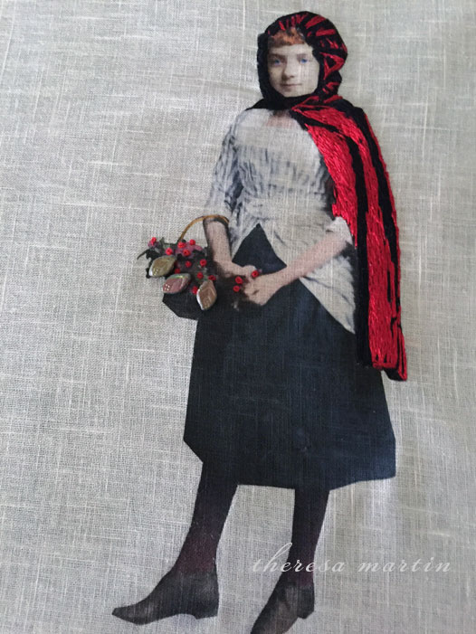 Embroidery of Little Red Riding Hood