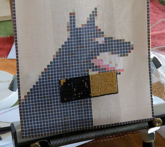 Beaded Wolf progress