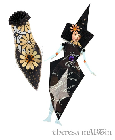 Halloween Paper Doll in a Shoe